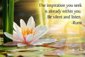 Learn how to be silent and listen